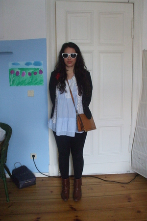 vintage dress - Vero Moda blazer - Bufallo shoes - vintage accessories