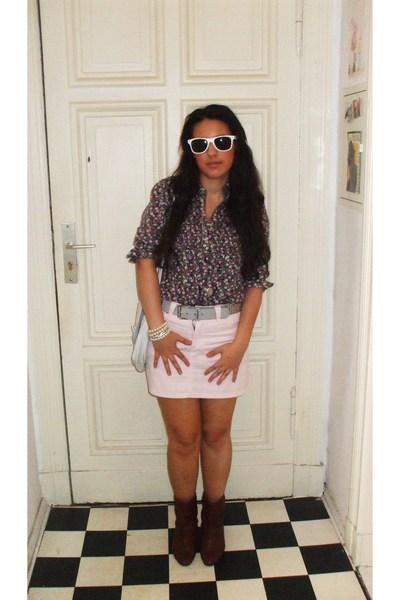 Vero Moda blouse - H&M skirt - vintage accessories - Buffalo shoes