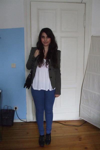 pieces leggings - Miss Sixty jacket - H&M shoes - vintage accessories
