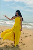 yellow dress Milly Bridal dress