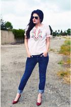 Festive Colored Shirt shirt - blue jeans Pacsun Jeans jeans