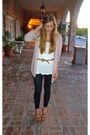 Black-450-forever-21-leggings-white-forever-21-shirt-light-pink-hinge-cardig