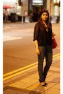 Red-longchamps-bag-zara-jeans-black-topshop-shoes