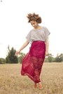 Brick-red-lace-maxi-forever-21-skirt