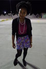 Black-blazer-hot-pink-shirt-black-tights-amethyst-skirt-black-sequins-fl