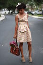 Yellow-zac-posen-for-target-dress-green-na-shoes-brown-moms-purse