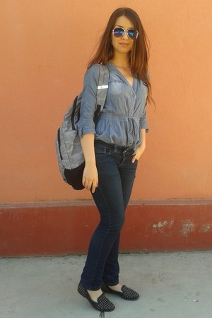 sky blue Prototype Authentic blouse - heather gray backpack Puma bag