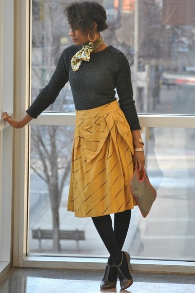 Report shoes - Victorias Secret sweater - Anthropologie skirt