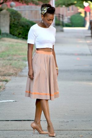 Victorias Secret sweater - thrifted skirt - DKNY shoes