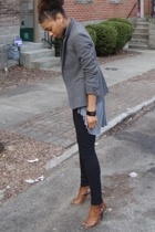 thrifted blazer - H&M top - American Apparel leggings - Steve Madden shoes