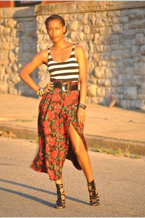 vintage skirt - ASH shoes - Forever21 top