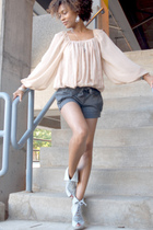 H&M blouse - Jeffrey Campbell shoes - Forever21 shorts