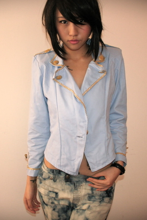 Pale blue military jacket