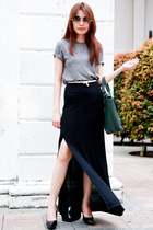 maxi skirt Topshop skirt - 31 Phillip Lim bag - unique design sunglasses