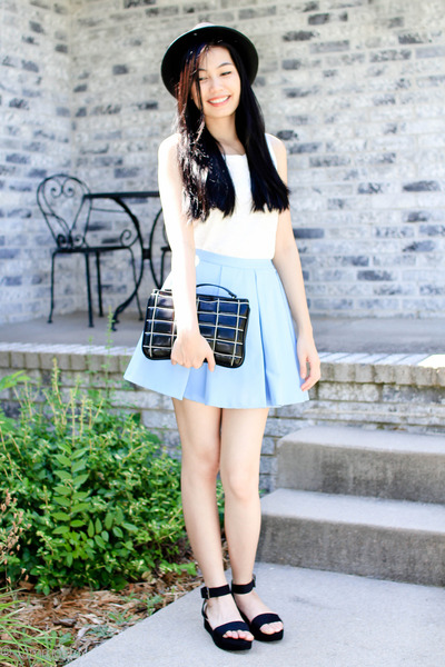 Zara skirt - Forever 21 hat - Zara bag - Zara sandals - Zara top