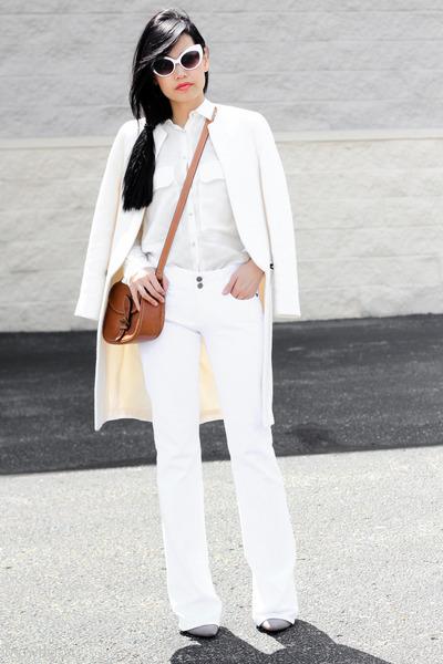 Zara coat - vintage jeans - Zara shirt - tawny vintage bag