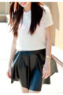 Amen-skirt-fur-cream-design-sweater-studded-black-charles-keith-heels