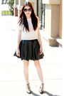 Fur-cream-design-sweater-studded-black-charles-keith-heels-amen-skirt