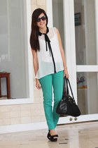 aquamarine Basement pants - black Payless bag - black MNG glasses
