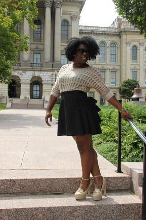 ruffles FanPlusFriend skirt - mesh Charlotte Russe sweater