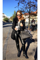 black Two way shoes - black Zara jacket - black c&a leggings
