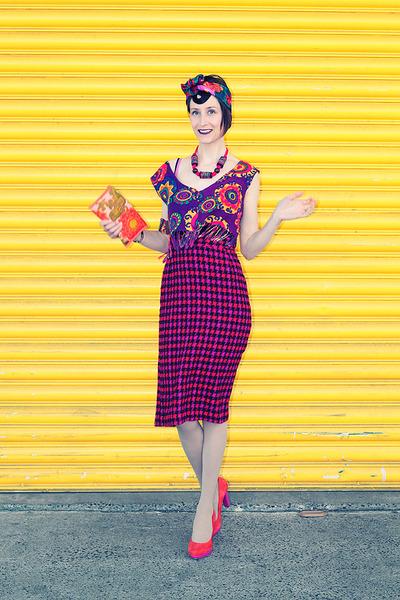 90s vintage scarf - carrot orange isabella anselmi shoes