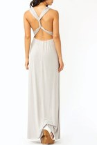 Halter Cut Maxi Dress With Sexy Cut Out Back