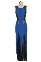 Royal Blue Mermaid Maxi Dress