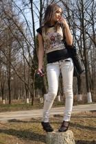 Zara t-shirt - Bershka jacket - Zara shoes