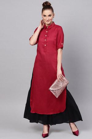 hot pink Jaipur Kurti dress