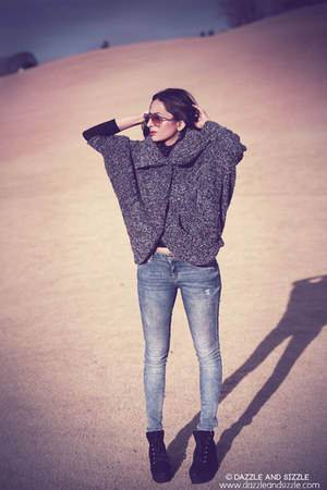 ingni coat - Zara jeans - Forever 21 wedges