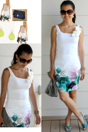white printed floral H&amp;M skirt