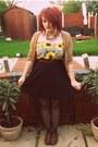 Black-topshop-skirt-sunflowers-primark-romper-beige-topshop-cardigan