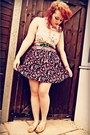 Magenta-vintage-skirt-camel-moccasins-new-look-shoes