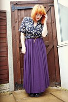 deep purple maxi skirt new look skirt - black patent creepers new look shoes