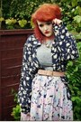 Floral-vintage-shirt-forever-21-shoes-grey-midi-topshop-dress