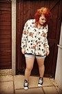 Ivory-floral-print-thrifted-shirt-black-converse-style-new-look-shoes