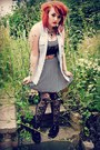 Creepers-newlook-shoes-striped-topshop-dress-denim-diy-shirt