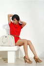 Red-promod-dress-off-white-louis-vuitton-bag-light-brown-sam-edelman-heels-