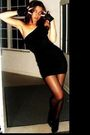 Black-forever-21-dress-black-claires-gloves-black-victoria-secret-stockings-