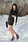 Black-self-made-dress