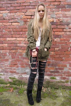 sam edelman boots - H&M jacket - Alexander Wang bag