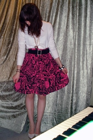 Rue 21 skirt - H&amp;M jacket - belt - Forever21 bracelet - Aldo shoes - Rue 21 neck