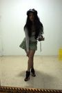 Gray-next-hat-gray-billabong-top-green-topshop-skirt-black-neon-shoes-bl