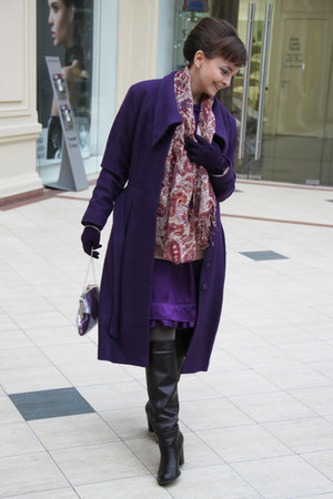 violet Glance bag - purple Mulberry dress - deep purple Glance coat