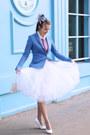Blue-handmade-hat-blue-massimo-dutti-blazer-white-handmade-skirt
