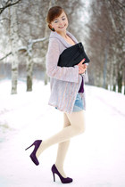 periwinkle Jacklin cardigan - deep purple MICHAELMichael Kors shoes