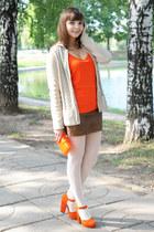 carrot orange Pierre Dumas shoes - carrot orange asos bag