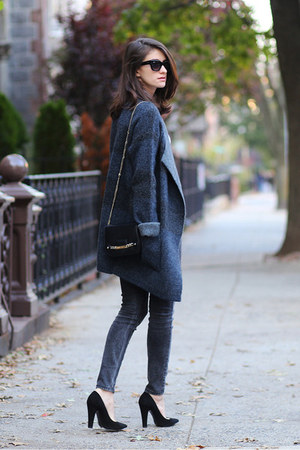Giuseppe Zanotti shoes - Max Studio coat - Guess jeans - Jimmy Choo bag