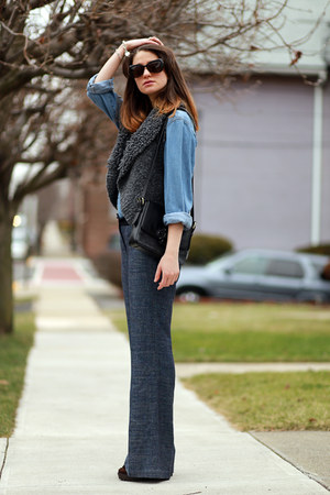 Anthropologie cardigan - Anthropologie pants
